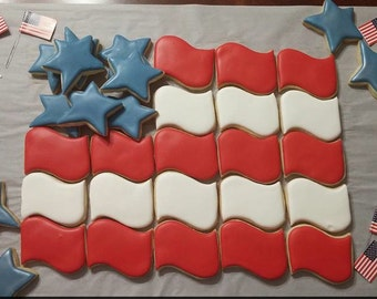 4th of July Flag Platter