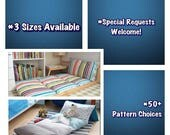 Pillow Mattress/Pillow Bed - 3 Sizes; Over 50 Patterns to Choose From!