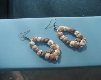 Handmade Seashell Summertime Beach Earrings
