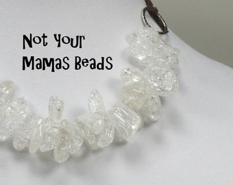 Rock Quartz Nugget Bead Necklace