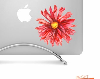 Red Watercolor Gerber Daisy Flower - Printed Vinyl Decal - Perfect For laptops, tablets, cars, trucks, SUVs and more!