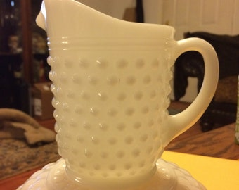 Vintage Anchor Hocking Hobnail Small Pitcher or large Creamer