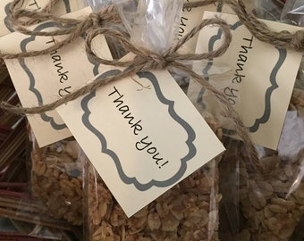 Granola Bars Personalized Party Favor, Dark Chocolate, Pumpkin & Sunflower, Sweet Cranberry Snack, Pack of 12 or 24, Promotional Gift Item