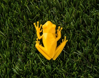 Jungle Tree Frog - 3D printed Polygonal Brooch