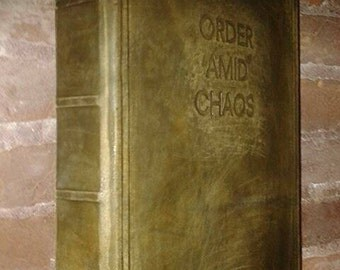 Book of shadows-blank pages - wicca - REFILLABLE- Order Amid Chaos