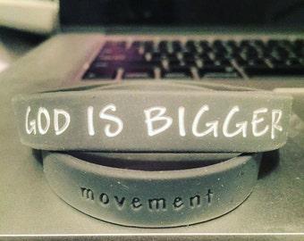 God is Bigger Movement Wristbands