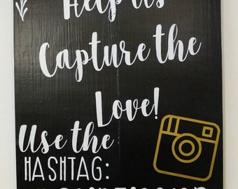 Capture the Love Wedding Wood Sign Wedding Ceremony Decoration Rustic Shabby Chic Vintage Country Love Newlyweds Marriage Boho Photography