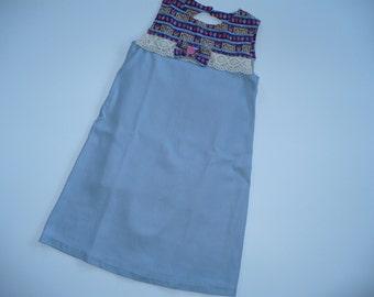 GIRL'S KEYHOLE DRESS, party dress, summer dress, blue dress, dress, girl