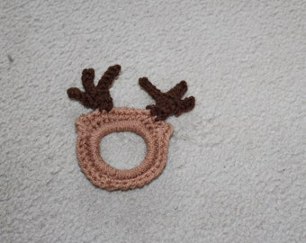 Crochet reindeer camera buddy