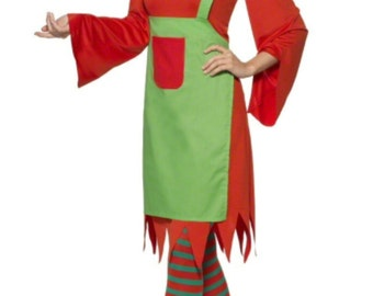 Elf Costume, Santa Claus, Christmas, Clause Costume, Red suit, Red Dress