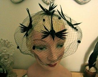 50's Birdcage Veil/ Fascinator