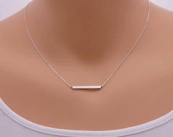 Thick Modern Bar Necklace / rectangular necklace, geometric jewelry, bar necklace, minimalist / N0-10