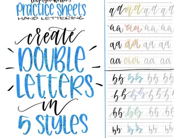 Hand Lettering Practice Sheets Modern Calligraphy Guide