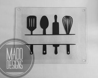 Customizable Glass Cutting Board- Kitchen Utensil  Style