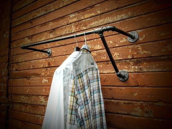 Asymmetric Wall Mounted Clothes Rack Garment Rack Wall