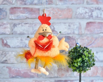 Rooster Year of the rooster kitchen decor rooster ornament rooster decor knitting rooster rooster Christmas rooster Bird Chicken Easter