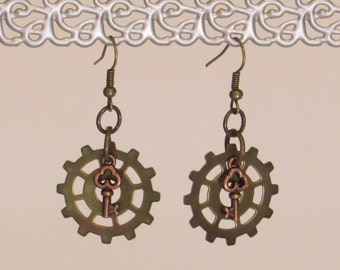 E-1729 Steampunk Earrings