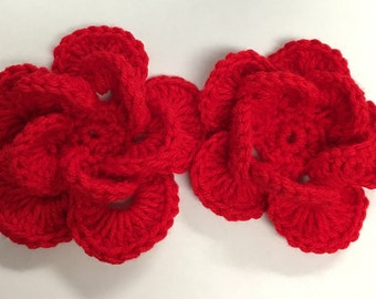 A pair of Wagon Wheel Flowers
