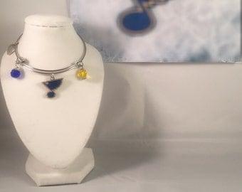 ST. LOUIS BLUES expandable bangle bracelets