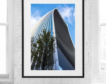 Modern Architectural photograph of the Skygarden skyscraper in London, UK