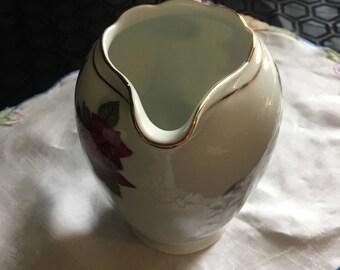 Gorgeous red rose wawel vintage pitcher/ wawel pitcher/ large vintage pitcher / rose pitcher / large vintage jug