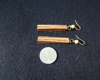 Zebrawood Dangle Earrings