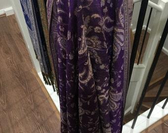 Jacuard Paisley Pashmina purple