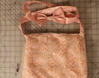 Cute handmade peach flower purse