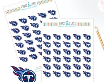 30 Tennessee Titans Football Reminder or Planner Stickers