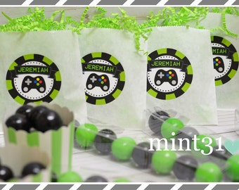Video Gamer Birthday Party Favors, Cookie Bags