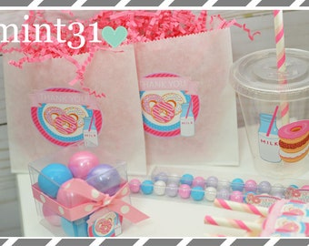 Donut Birthday Party Favors, Cookie Bags