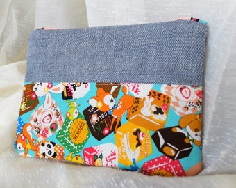 Denim Japanese Candy Coin Purse