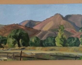 San Ynez Mountains and Oak trees