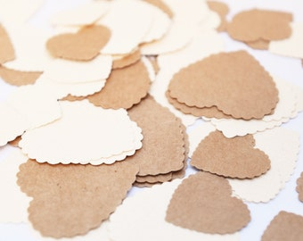 Rustic Heart Confetti, Rustic Wedding Decorations, Engagement Party Decorations, Rustic Bridal Shower, Country Theme Wedding Decorations