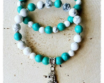 Duo turquoise and howlite
