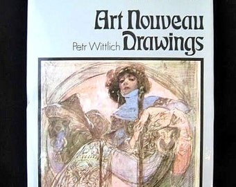 Art Nouveau Drawings / Book Includes Mucha Rodin Beardsley Klimt Munch
