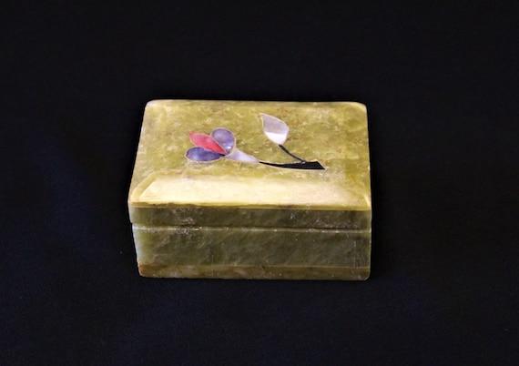 Vintage Small Hand Carved Tan Alabaster Sandstone