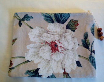 Cotton Makeup/Cosmetic/Storage/ Zippered Pouch