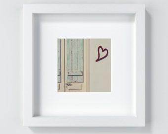 Heart door, 13 x 13 cm + 20 x 20 cm