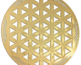 Flower of Life with Detail 18K Gold Plated YA-59