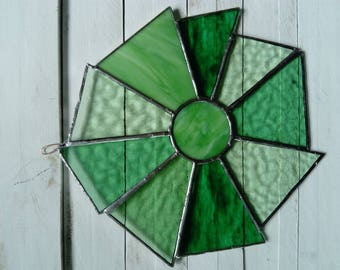 Glass Sun  Sun catcher for window home violet, green, Yellowstone, blue