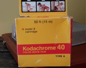 Kodachrome 40 Super 8 Color Movie Film Sealed by Kodak