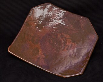 Brown square serving tray