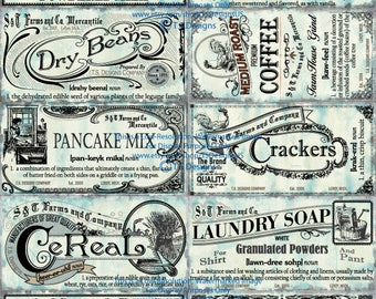 Shabby Chic Pantry Labels- Set 2