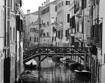 Cityscape-BW photo, Venice, Italy