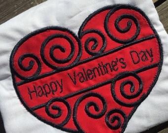 Valentine's Day swirl Shirt, Valentine's Day, Girl's Valentine's Shirt