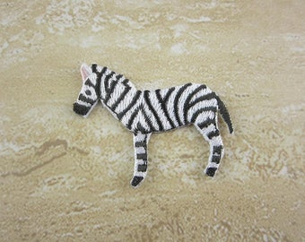 Iron On Patch, Embroidered Zebra Appliques
