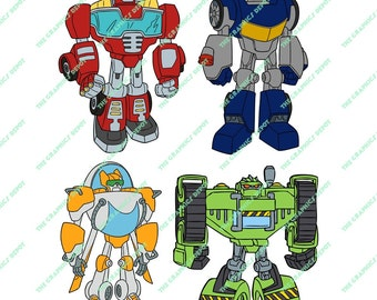 Rescue Bots svg, eps, png files - Digital Download - Rescue Bots Cut File, Rescue Bots Clipart - Cricut Explorer - Silhouette Cameo