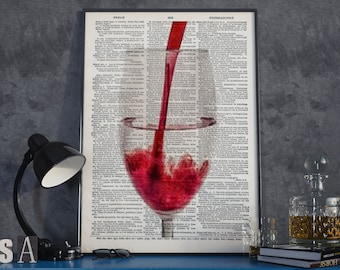 Wine Poster, Red Wine Poster, Wine Print, Wine Art Print, Red Wine Print, Red Wine Art Print, Wall Art, Art Print, Instant Download