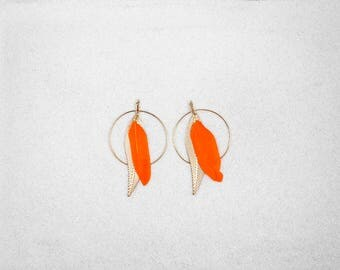 Hypoallergenic Silicone Feather with Hoop Earrings